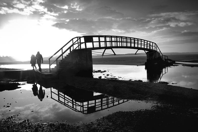 Bridge to Nowhere, Belhaven, Dunbar at low tide