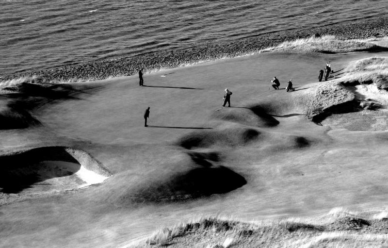 Castle Stuart golf links. Inverness.Black and white