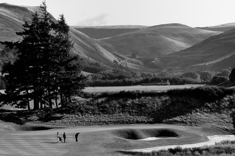 Gleneagles PGA course. Perthshire. Black and white