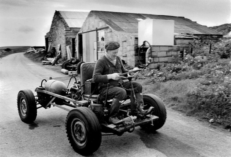 Robbie of Sams with his home made buggy
