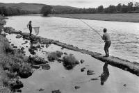 Awaiting the fish, Tulchan pool, River Spey