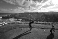 Driving from 6th tee, Eyemouth golf course