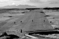 Prestwick golf course. 10th hole. With new bridge. Black and white